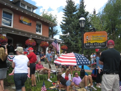 Fourth of July on the lawn in the center of Breckenridge, at Breckenridge Associates Real Estate