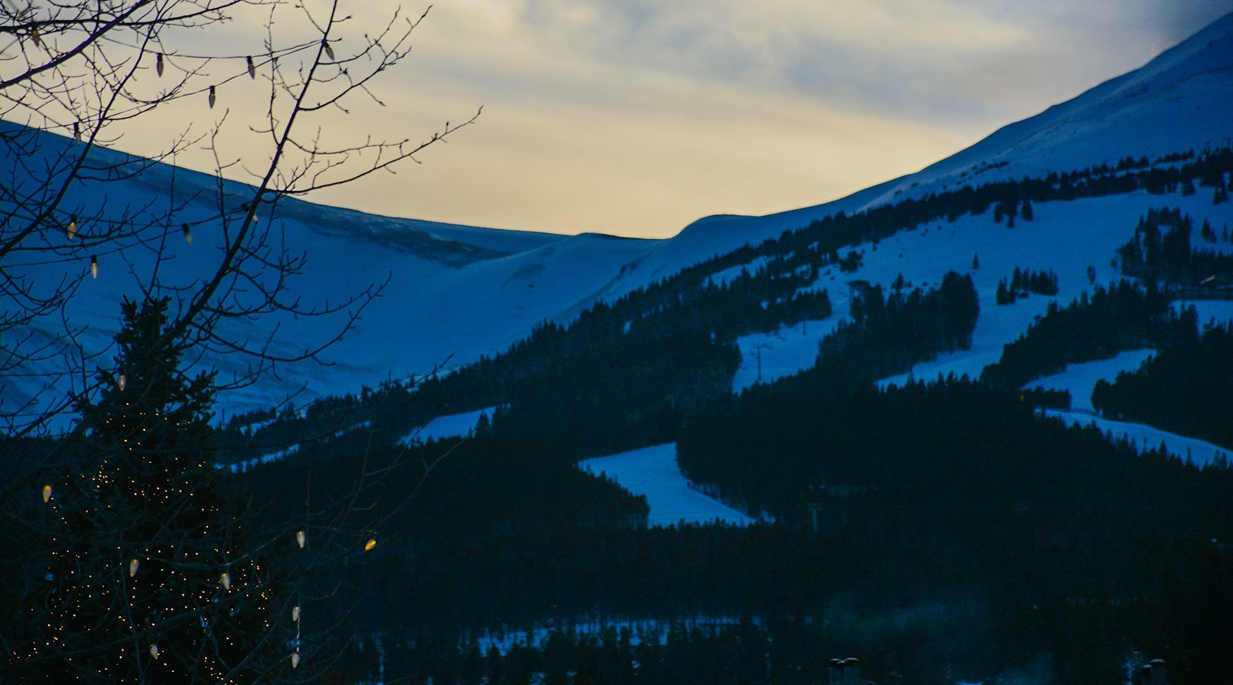 Holiday lights and the Breckenridge ski resort