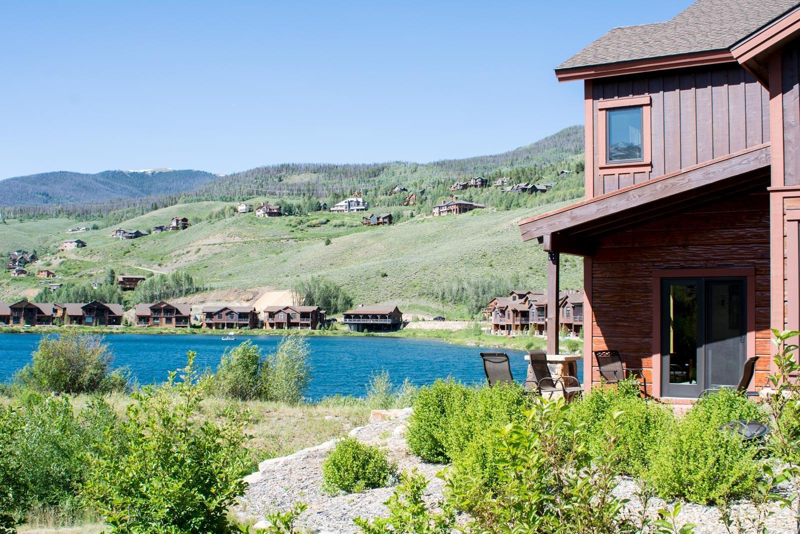 Angler Mountain Ranch centers around a community lake, with homes and duplexes offering a variety of price options.