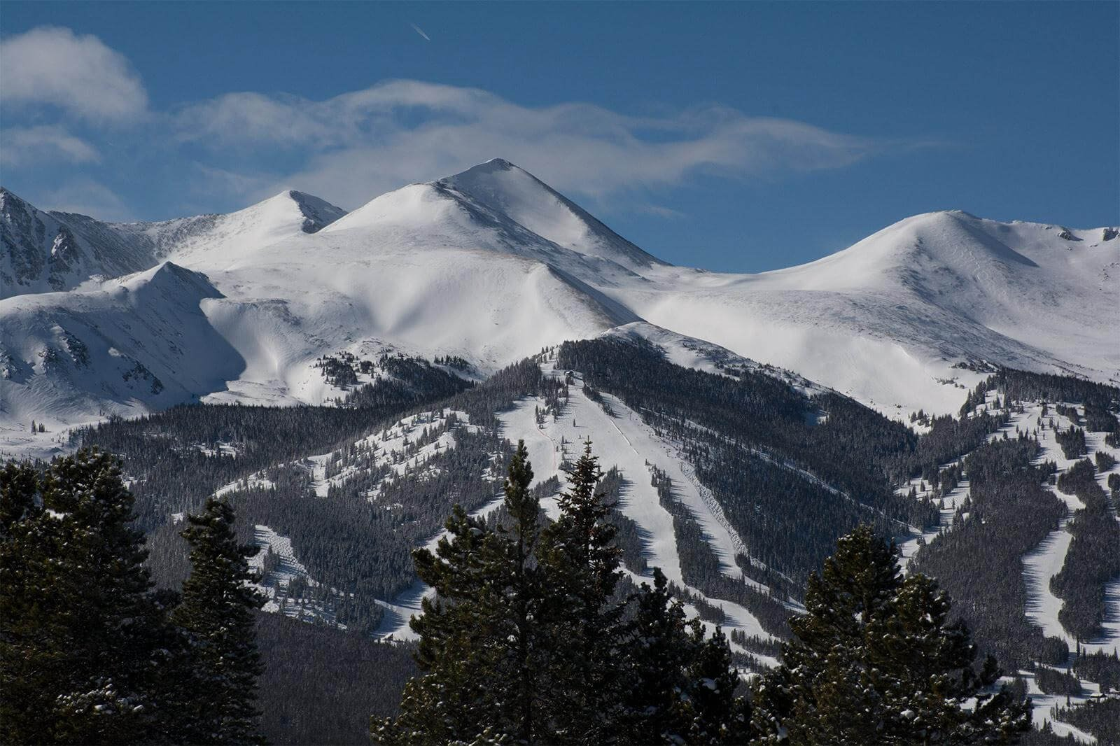 Tenmile Range above Breckenridge, Colorado