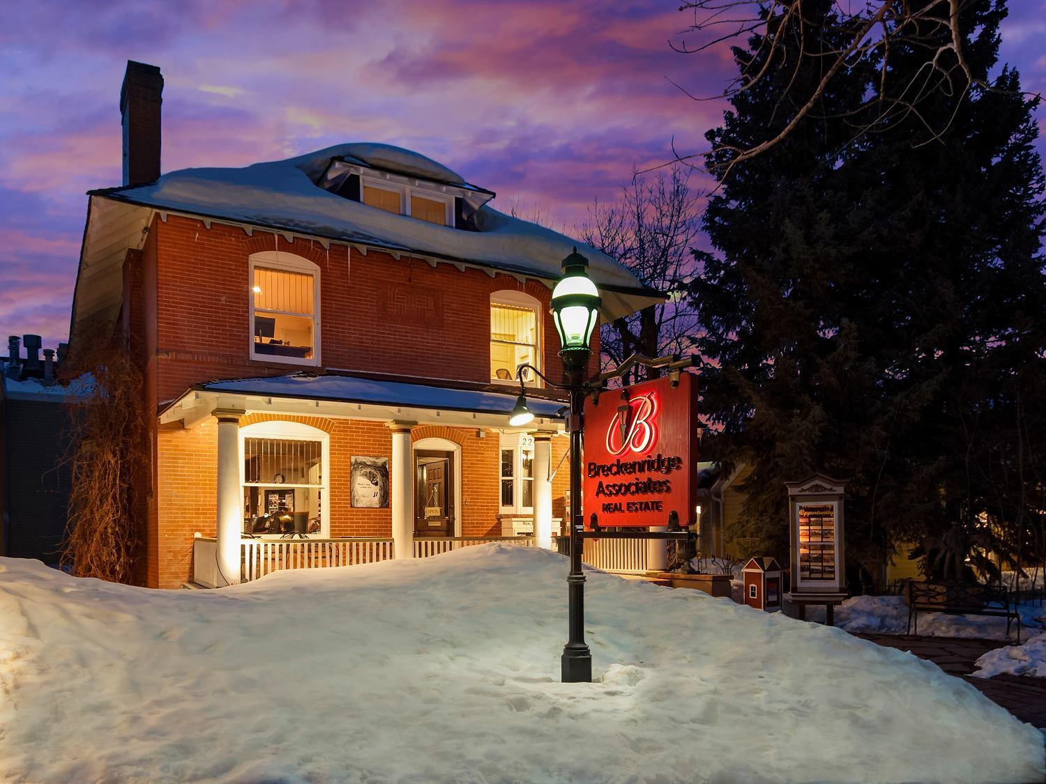 Breckenridge Associates Real Estate office on Main Street, Breckenridge, Colorado