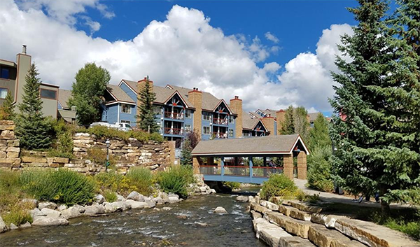 River Mountain Lodge as viewed from Blue River park