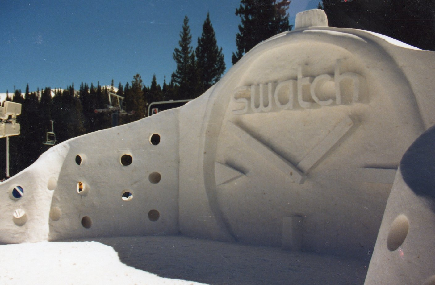 Team Breckenridge Swatch Snow Sculpture