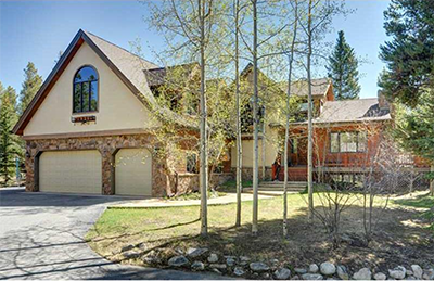 Typical 'alpine' style home in the Weisshorn subdivision in Breckenridge Colorado