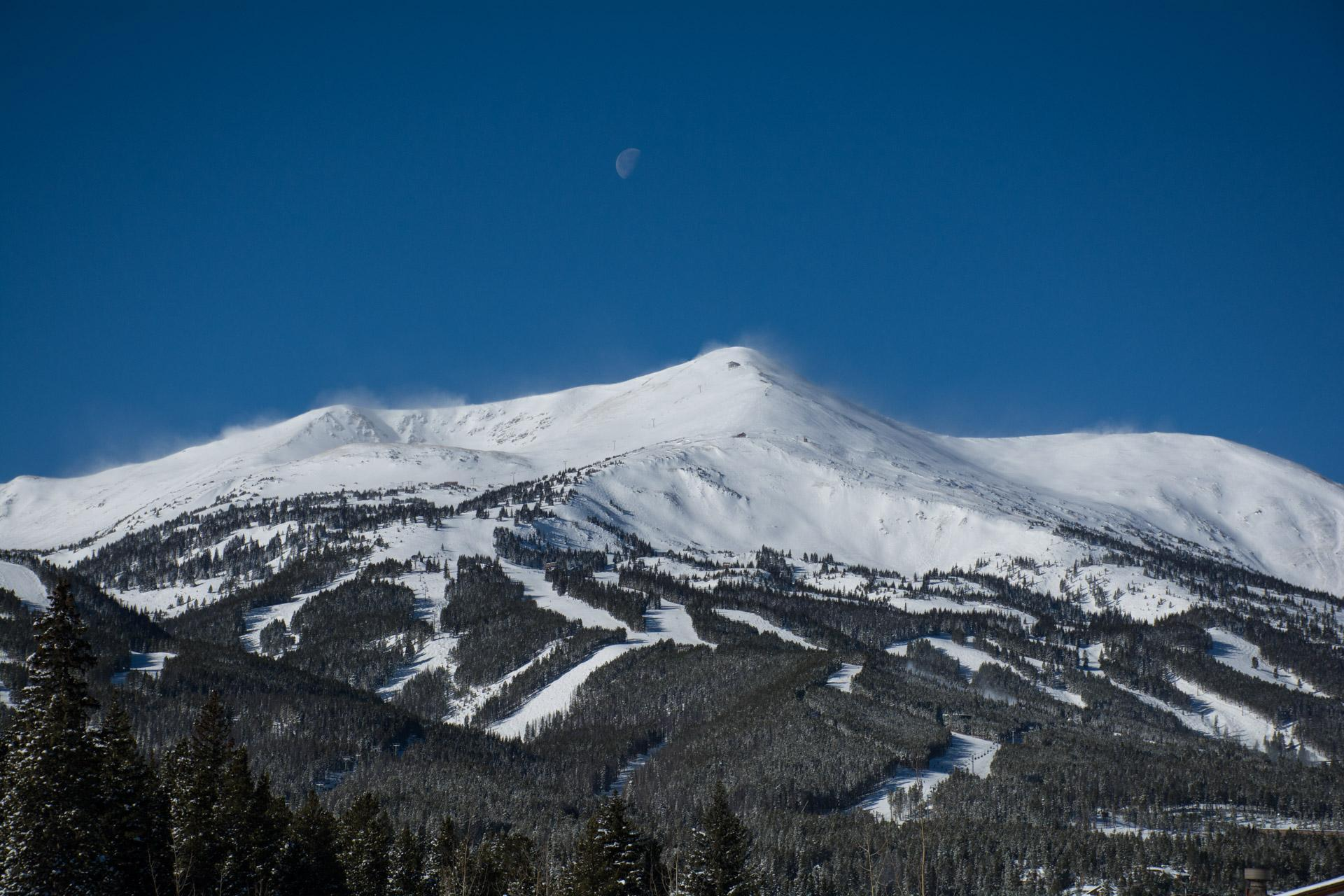 Moon over the Breckenridge Ski Resort, 2017