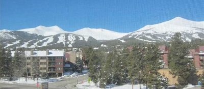 View from the close-in Blazing Saddles condo, Breckenridge Colorado