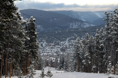 Four O'Clock Run: the way to town from the Breckenridge that runs parallel and is accessible by Four O'Clock homes for sale