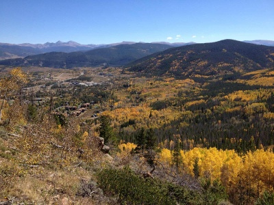 View from Mount Royal obtained from a short, steep trail from the town of Frisco, Colorado. Photo taken fall of 2015