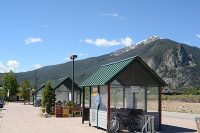 ON the northside of Frisco is the transit center where the free Summit Stage departs for Breckenridg,e Copper Mountain and Keystone