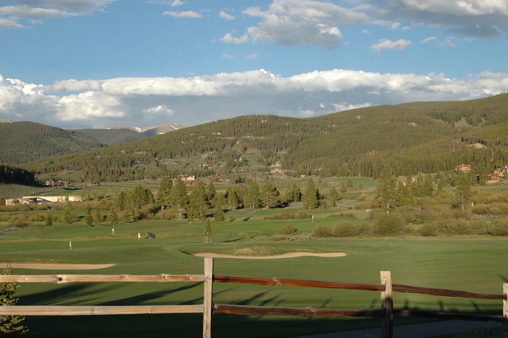 view of Breck Golf Course and north end of Breckenridge subdivisions and neighborhoods