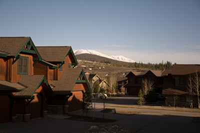 Highland Greens are new Breckenridge townhomes with a view of the Tenmile Range