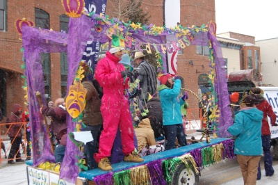 Breckenridge Mardi Gras celebration on Main Street