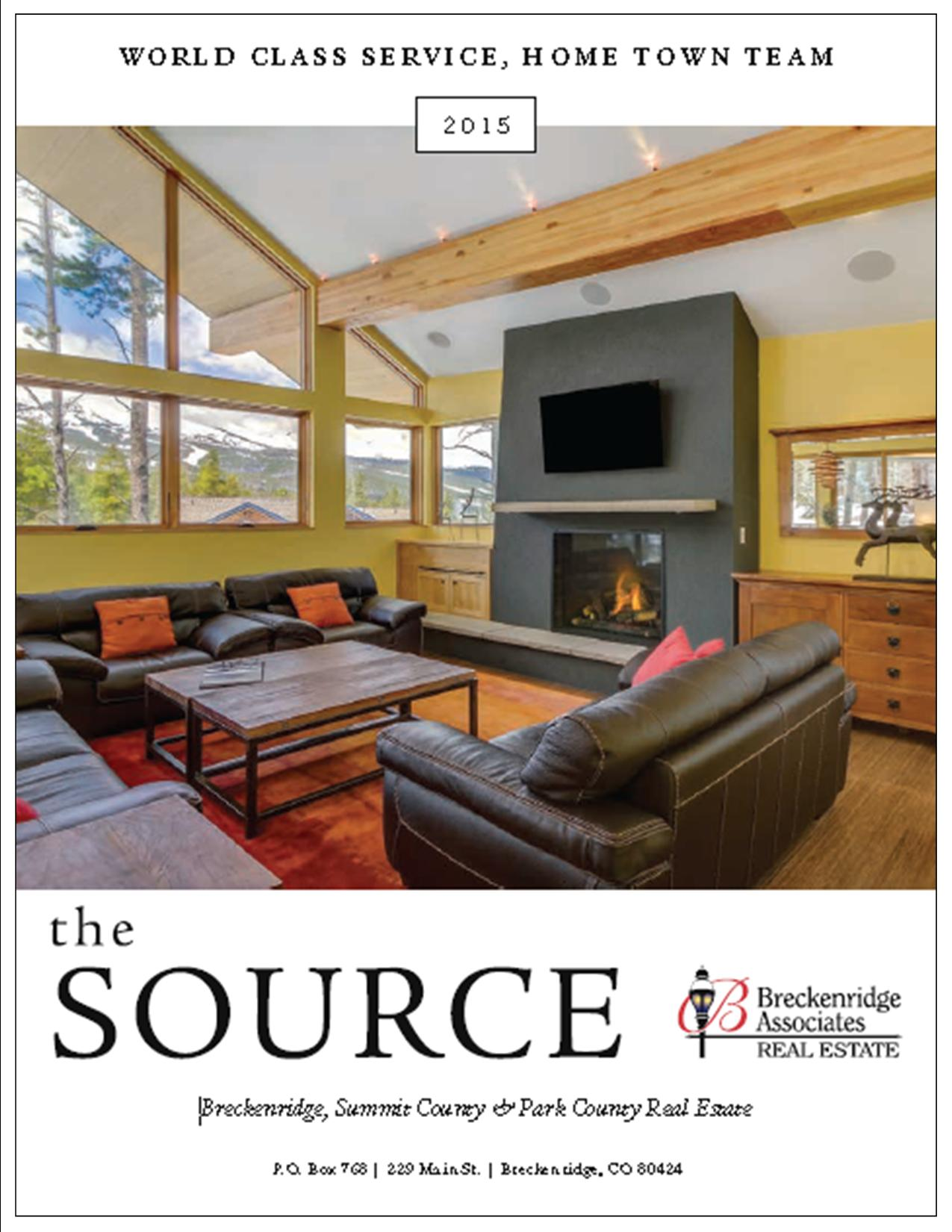 The cover of the May 2015 Source for Real Estate Magazine