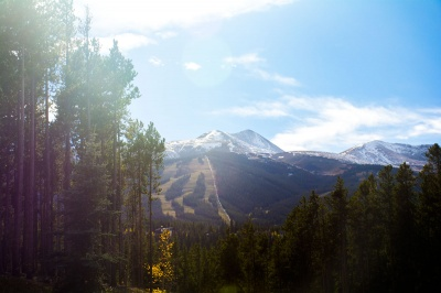 view from Boreas Pass road and south end of Breckenridge subdivisions and neighborhoods