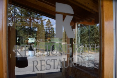 In the Clubhouse at Keystone Ranch Golf Course, this restaurant is one of the finest in Summit County