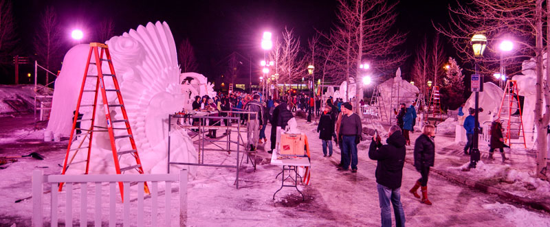 Snow Sculpture Championships, 2015, final night