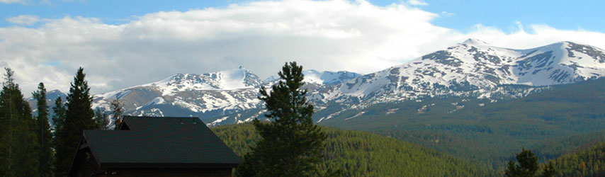 view from one of the northern subdivisons of Breckenridge