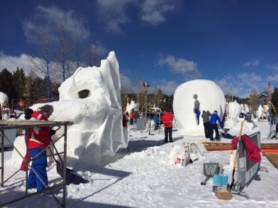 Snow sculpture Breckenridge Day 3