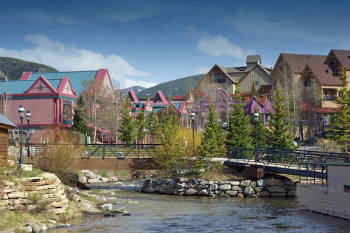 trails end condos are located a block from the south end of downtown breckenridge colorado pictured here