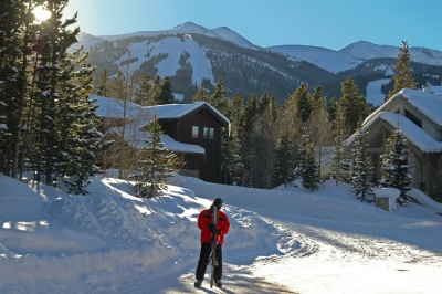 ski to Amber Ridge from Peak 9 at the breckenridge ski resort