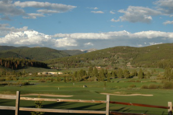 Breckenridge Golf Course summer view from Willow run at the Highlands